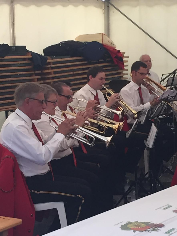 Musikalische Darbietung des Musikvereins Hombrechtikon