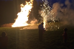 Loderndes 1. August-Feuer